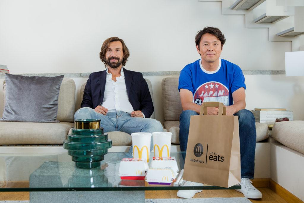 McDelivery Andrea Pirlo Masahiro Fukuda Uber Eats