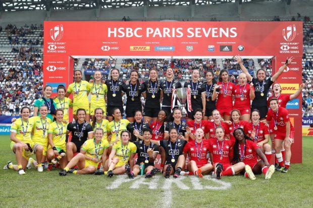 Dans le tournoi féminin du HSBC Paris Sevens, la Nouvelle-Zélande devance l'Australie et le Canada