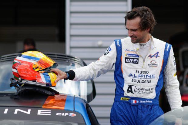 Pierre Sancinéna, leader du classement général de l'Alpine Elf Europa Cup