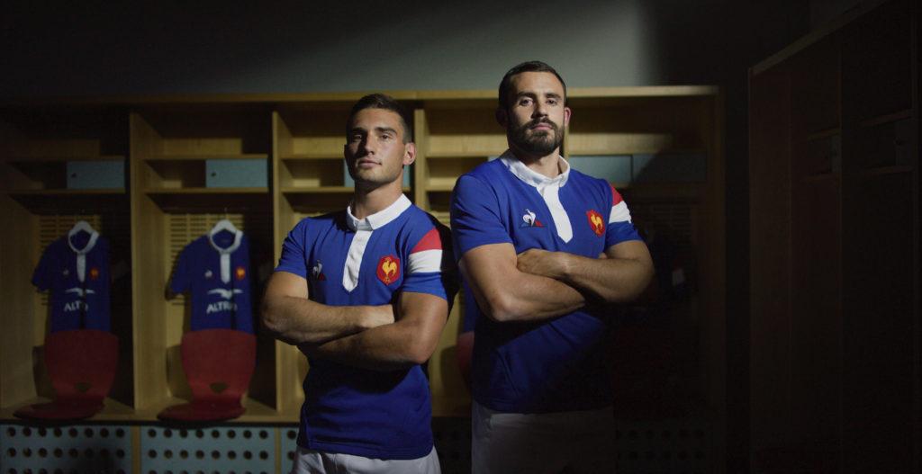 Baptiste Couilloud Geoffrey Doumayrou nouveau maillot XV de France Le Coq Sportif