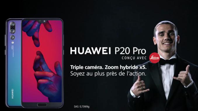huawei p20 pro griezmann publicite