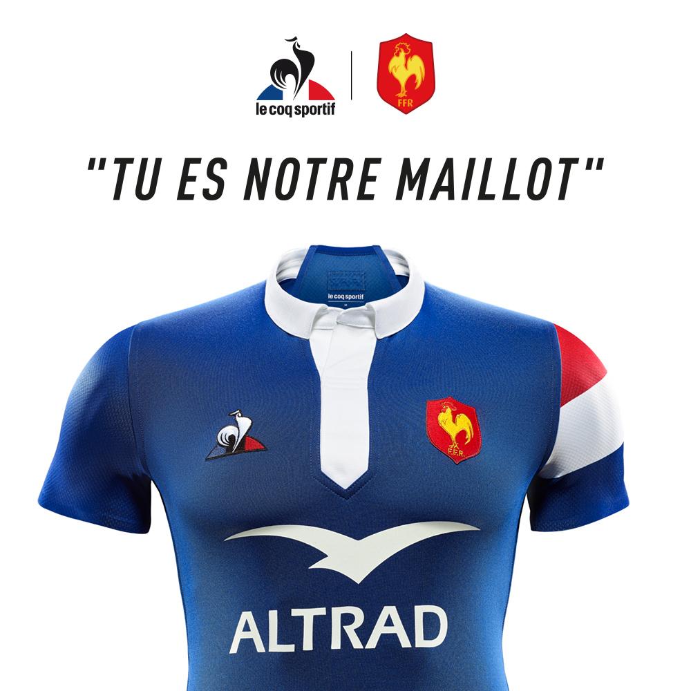 nouveau maillot XV de France Le Coq Sportif