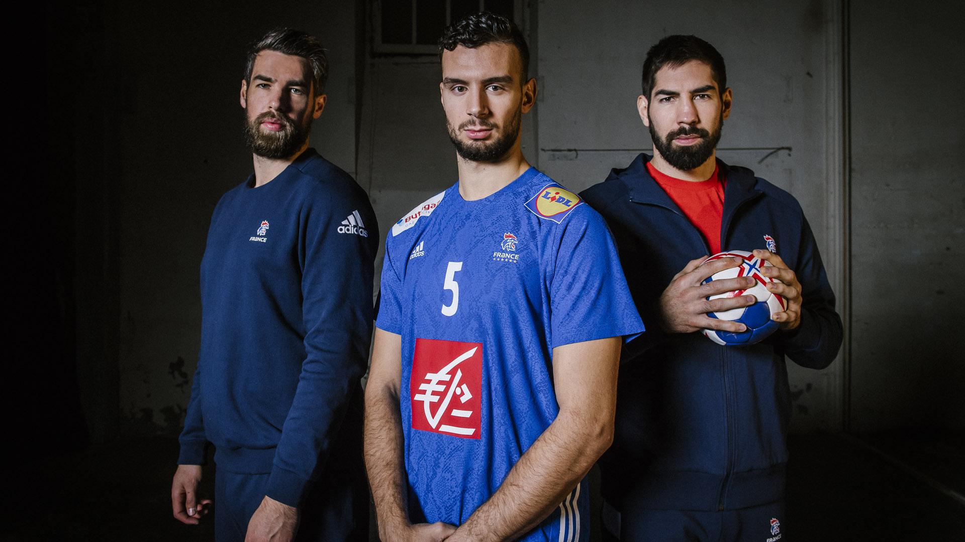 Luka Karabatic Nedim Remili Nikola Karabatic équipe de france de handball adidas nouveau maillot