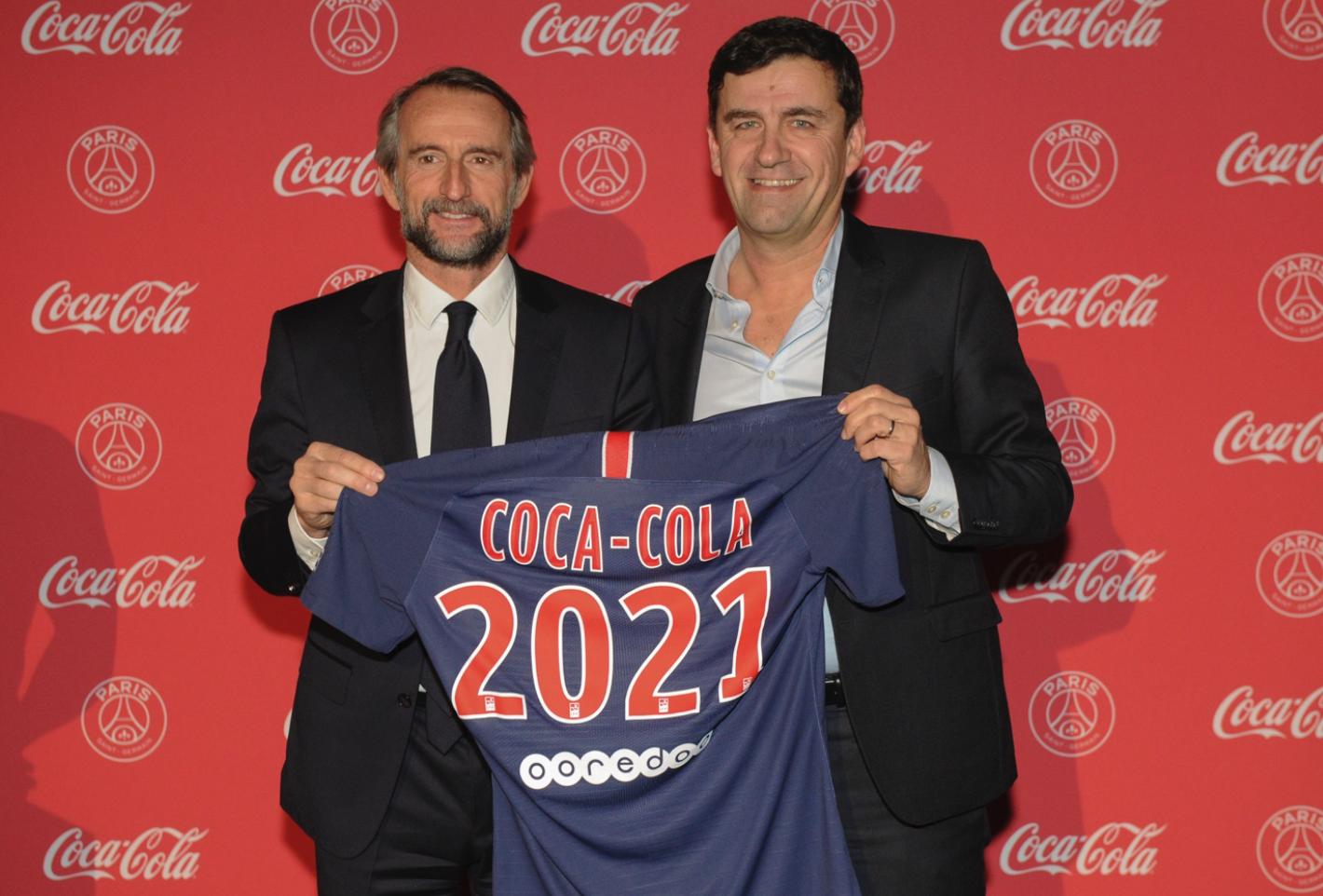 Jean Claude Blanc PSG Francois Gay-Belille Coca-Cola France