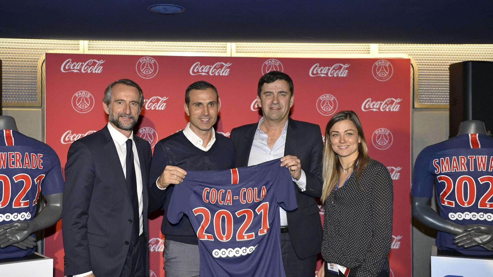 Jean-Claude Blanc Pauleta François Gay-Belille Laure Boulleau PSG Coca-Cola
