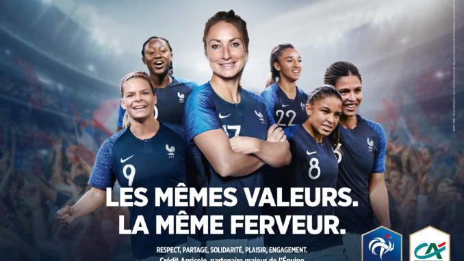 Crédit Agricole Soutien Equipe de France féminine football Coupe du monde
