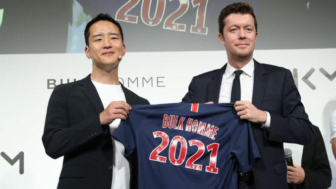 PSG partenariat Asie Bulk Homme