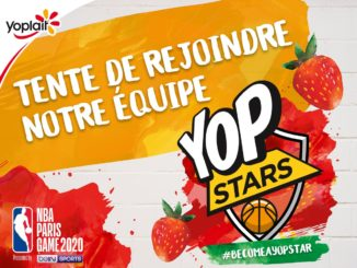YOP yaourt officiel du NBA Paris Game 2020