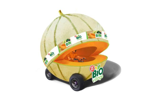 11 véhicules pour la caravane E.Leclerc sur ce Tour de France 2020... dont 1 melon et 1 fraise !