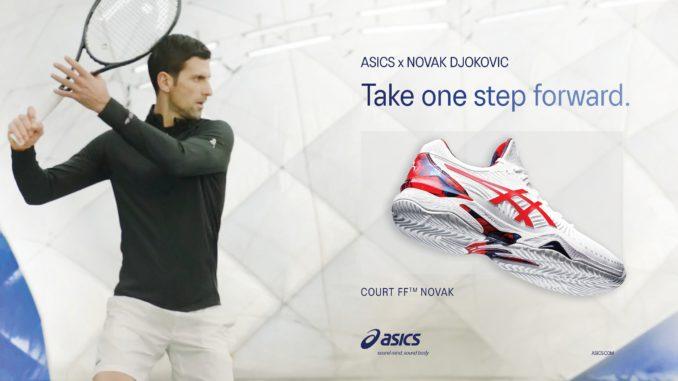 novak djokovic asics chaussure tennis